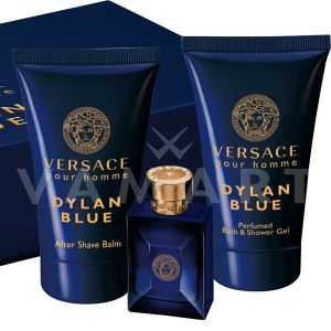 Versace Pour Homme Dylan Blue Eau de Toilette 5ml + Shower Gel 25ml + After Shave Balm 25ml мъжки комплект