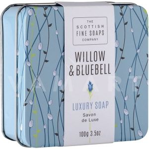 Scottish Fine Soaps Willow & Bluebell Luxury Soap 100gr луксозен сапун в метална кутия