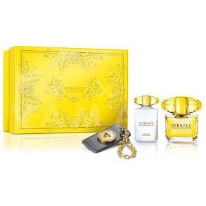 Versace Yellow Diamond Eau de Toilette 90ml + Body Lotion 100ml + Аксесоар за чанта дамски комплект