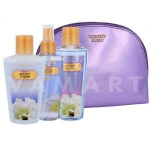 Victoria's Secret Secret Charm Fragrance Mist 125ml + Body Lotion 125ml + Shower Gel 125ml + Чанта дамски комплект