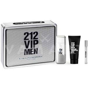 Carolina Herrera 212 Vip Men Eau de Toilette 100ml + Shower Gel 100ml + Eau de Toilette 10ml Мъжки комплект