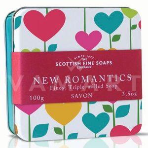 Scottish Fine Soaps Сапун в метална кутия Романтични сърца 100g