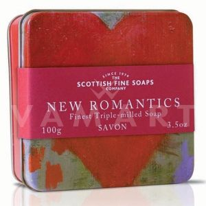Scottish Fine Soaps Сапун в метална кутия Романтично сърце 100g