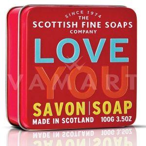 Scottish Fine Soaps Сапун в метална кутия Love You 100g