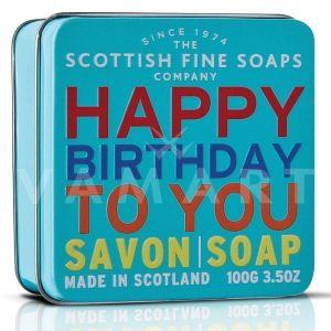 Scottish Fine Soaps Сапун в метална кутия Happy Birthday To You 100g