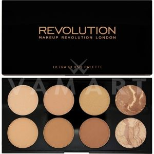 Makeup Revolution London Ultra Blush Palette All About Bronze Палитра бронзиращи пудри 8 цвята