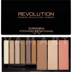 Makeup Revolution London Euphoria Palette Bronzed Палитра сенки и контури