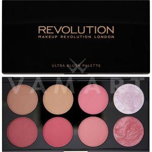 Makeup Revolution London Ultra Blush Palette Sugar and Spice Палитра ружове 8 цвята