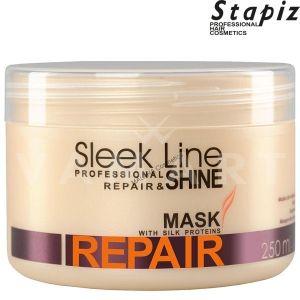 Stapiz Sleek Line Repair Mask Възстановяваща Маска за увредена коса с копринен протеин 250ml