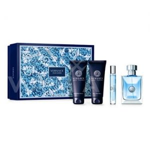 Versace Pour Homme Eau De Toilette 100ml + Shower Gel 100ml + Aftershave Balm 100ml + Eau De Toilette 10ml мъжки комплект
