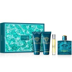 Versace Eros Eau De Toilette 100ml + Shower gel 100ml + Aftershave Balm 100ml + Eau De Toilette 10ml мъжки комплект