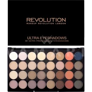 Makeup Revolution London Ultra 32 Shade Flawless Matte 2 Eyeshadow Palette Палитра сенки 32 цвята