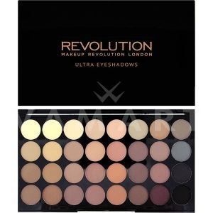 Makeup Revolution London Ultra 32 Shade Flawless Matte Eyeshadow Palette Палитра сенки 32 цвята
