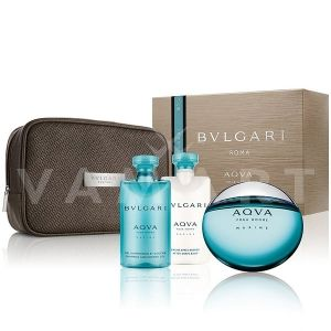 Bvlgari AQVA Pour Homme Marine Eau de Toilette 100ml + After Shave Balm 75ml + Shower Gel 75ml + Несесер мъжки комплект