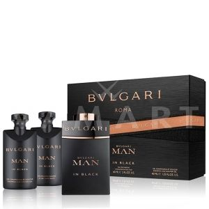 Bvlgari Man In Black Eau de Parfum 60ml + After Shave Balm 40ml + Shower Gel 40ml мъжки комплект