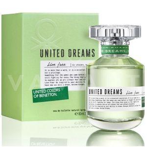 Benetton United Dreams Live Free Eau de Toilette 80ml дамски без опаковка