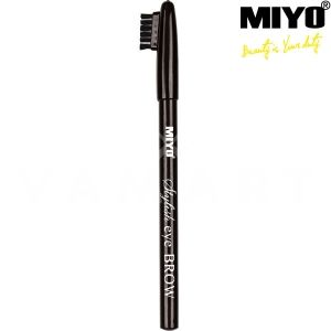 Miyo Stylish Eye Brow Молив за вежди 1 Black