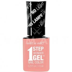 Wet n Wild Гел Лак за нокти 1 Step WonderGel Nail Color 705 Peach For The Stars