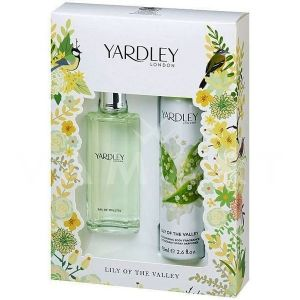 Yardley London Lily of the Valley Eau de Toilette 50ml + Deodorant Spray 75ml дамски комплект