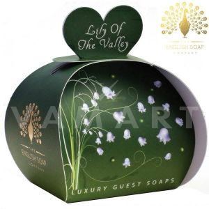 The English Soap Company Luxury Gift Lily of the Valley Луксозен сапун 3 x 20g