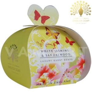 The English Soap Company Luxury Gift White Jasmine & Sandalwood Луксозен сапун 3 x 20g