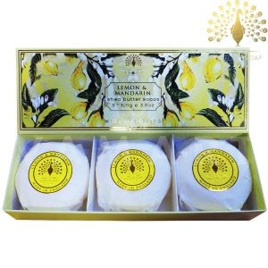 The English Soap Company Luxury Gift Lemon & Mandarin Луксозни сапуни 3х100g