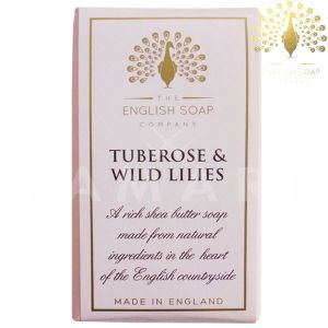 The English Soap Company Pure Tuberose & Wild Lilies Луксозен растителен сапун 190g
