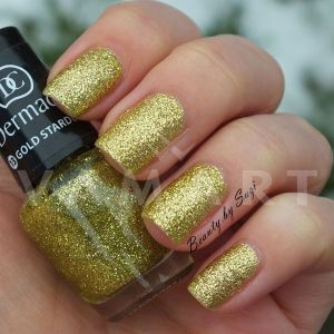Dermacol Nail Polish With Effect Glitter Touch 13 Gold Stardust