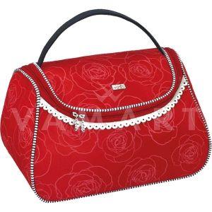 Reed Marina Red Козметично куфарче с огледало