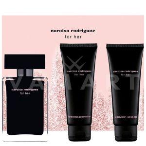 Narciso Rodriguez for Her Eau de Toilette 50ml + Body Lotion 75ml + Shower Gel 75ml дамски комплект