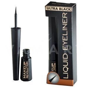Makeup Revolution London Amazing Liquid Eyeliner Ultra Black Очна линия черна