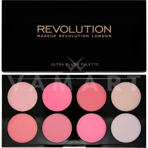 Makeup Revolution London Ultra Blush Palette All About Pink Палитра ружове 8 цвята
