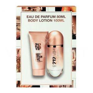 Carolina Herrera 212 VIP Rose Eau de Parfum 80ml + Body Lotion 100ml дамски комплект