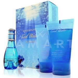 Davidoff Cool Water Woman Eau de Toilette 30ml + Body Lotion 50ml + Shower Gel 50ml дамски комплект