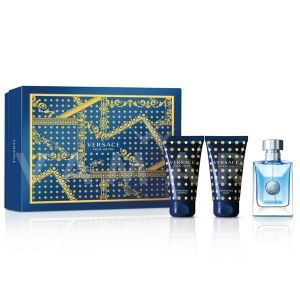 Versace Pour Homme Eau De Toilette 50ml + Hair & Body Shampoo 50ml + After Shave Balm 50ml мъжки комплект