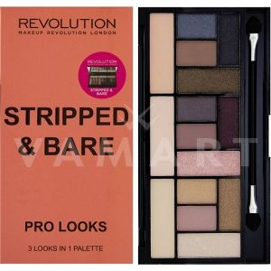 Makeup Revolution London Pro Looks Stripped & Bare Палитра сенки 15 цвята
