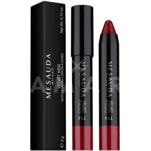 Mesauda Milano Velvet Kiss Chubby Lip Pencil Матово червило молив 114 Heartbreaker