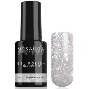 Mesauda Milano Gel Polish Nail Colour Mini 47 Glitter Argento Гел лак UV или LED лампа