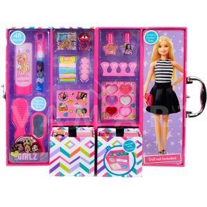 Markwins Barbie Beauty Armoire Case Детски козметичен комплект с гардероб с грим