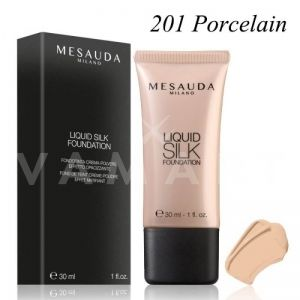 Mesauda Milano Liquid Silk Foundation SPF 30 Матиращ фон дьо тен 201 Porcelain