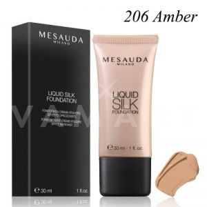 Mesauda Milano Liquid Silk Foundation SPF 30 Матиращ фон дьо тен 206 Amber