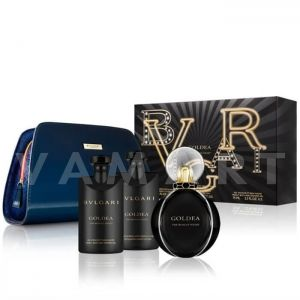 Bvlgari Goldea The Roman Night Eau De Parfum 75ml + Body Lotion 75ml + Shower Gel 75ml + Несесер Дамски комплект