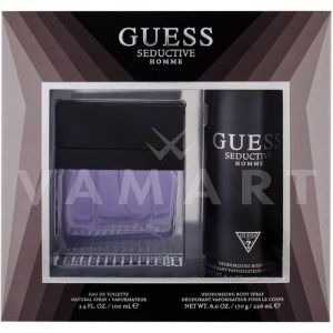 Guess Seductive Homme Eau de Toilette 100ml + Deodorant Spray 226ml мъжки комплект