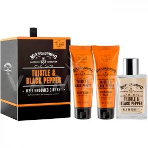 Scottish Fine Soaps Thistle & Black Pepper Well Groomed Gift Set Мъжки Комплект
