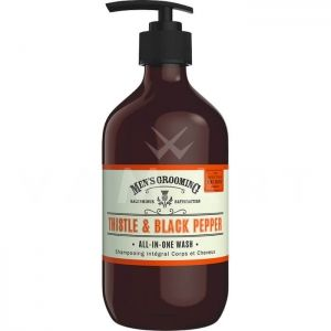 Scottish Fine Soaps Thistle & Black Pepper All In One Wash 500ml Измиващ гел 3 в 1, за лице, коса и тяло