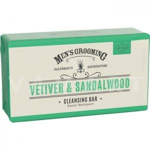 Scottish Fine Soaps Vetiver & Sandalwood Cleansing Bar 220g Луксозен сапун за мъже