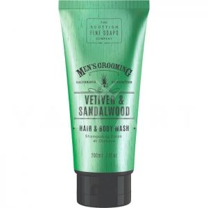 Scottish Fine Soaps Vetiver & Sandalwood Hair & Body Wash 200ml Шампоан за коса и тяло за мъже