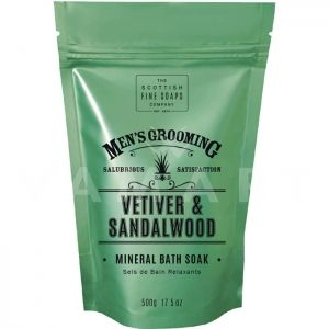 Scottish Fine Soaps Vetiver & Sandalwood Mineral Bath Soak 500g Релаксиращи соли за вана