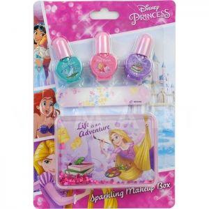 Markwins Disney Princess Sparkling Makeup Box Детски козметичен комплект за нокти с кутия