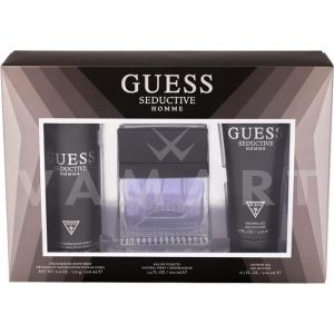 Guess Seductive Homme Eau de Toilette 100ml + Shower Gel 200ml + Deodorant Spray 226ml мъжки комплект